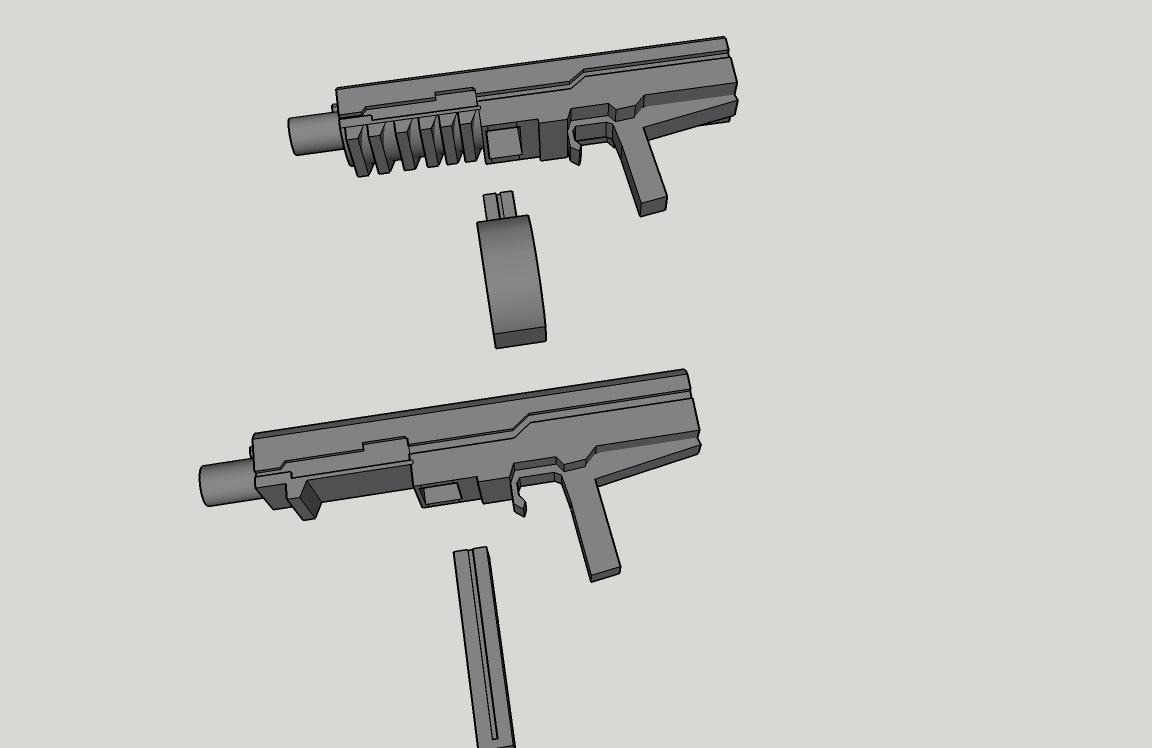 gundam 1/144 machine gun