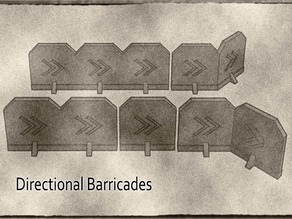 Directional Marker Barricades Terrain System For Gaslands, Warhammer 40k and more Tabletop Games