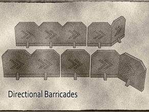 Directional Marker Barricades Terrain System For Gaslands, Warhammer 40k and more Tabletop Games