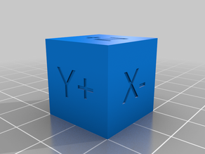 Labelled calibration cube