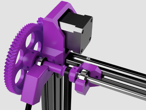 Tarantula Reframed & Reloaded, easier to print Dual Z-belt drive