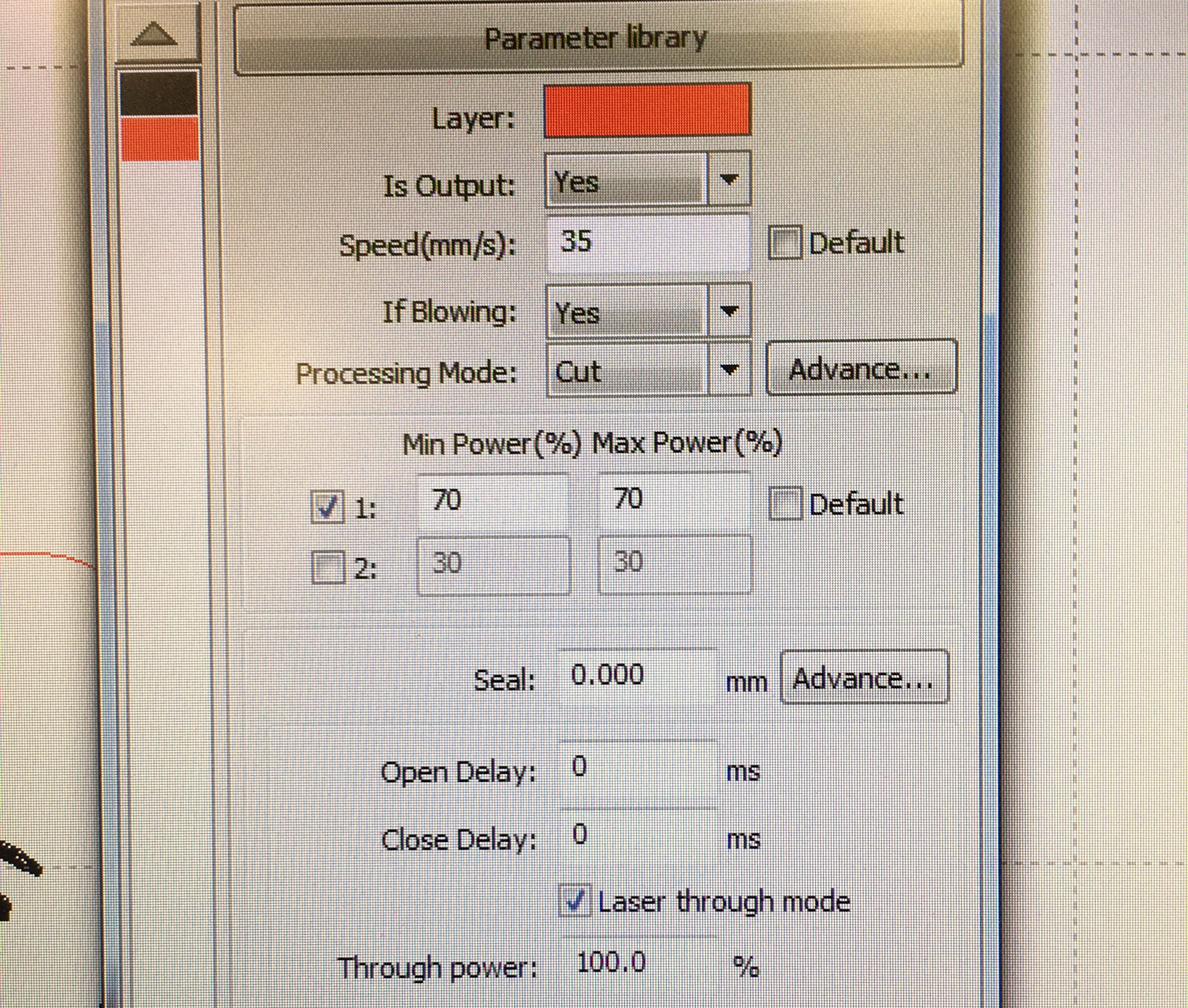 Scan engrave settings Laser Cut Maker Puzzle