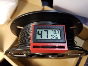 Digital Hygrometer Spool Mount and Filament Clip