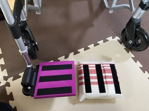 Cover for wheelchair footrest