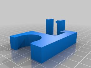 Pixel gutter clip for 1/2 PVC with wider hanger clip