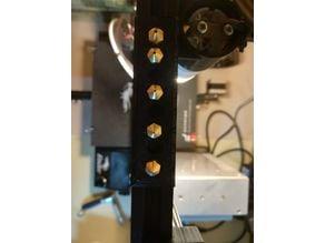 Nozzle Holder - Ender 3 (8 Nozzles, for V-Slot)