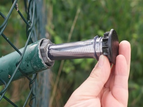 PET Petling Geocache fence pole cap