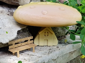 "MUSHROOM ""HOUSE MINIATURE"" AND / OR ""GREEN BOOK"""