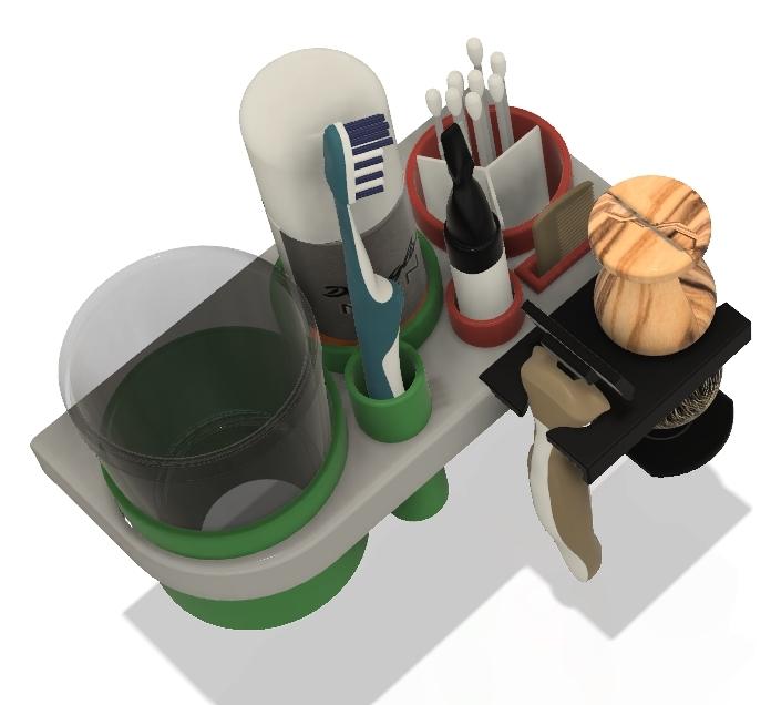 Zahnbürste Rasierer Ablage, Bad Waschbecken Sortiment, Toothbrush holde