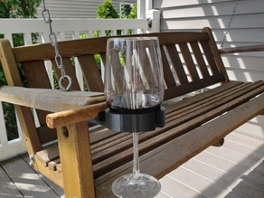 Wine glass and cigar holder
