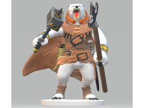 Filgar Fishclaw, Bearfolk Barbarian of the Frozen North