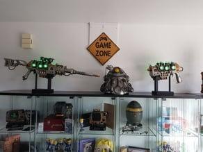 Fallout Plasma Riffle and Pistol Replica Gun Display