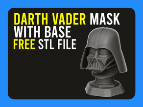 ▷ Darth Vader Head with Base