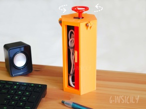 Rotating cable holder