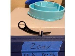 Dog food bin security