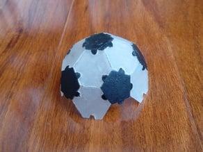 Soccer polyhedron jigsaw