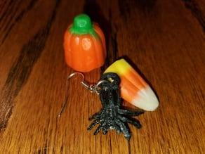 Hanging Spider Earrings