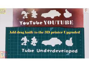 drag knife on 3d printer upgraded version
