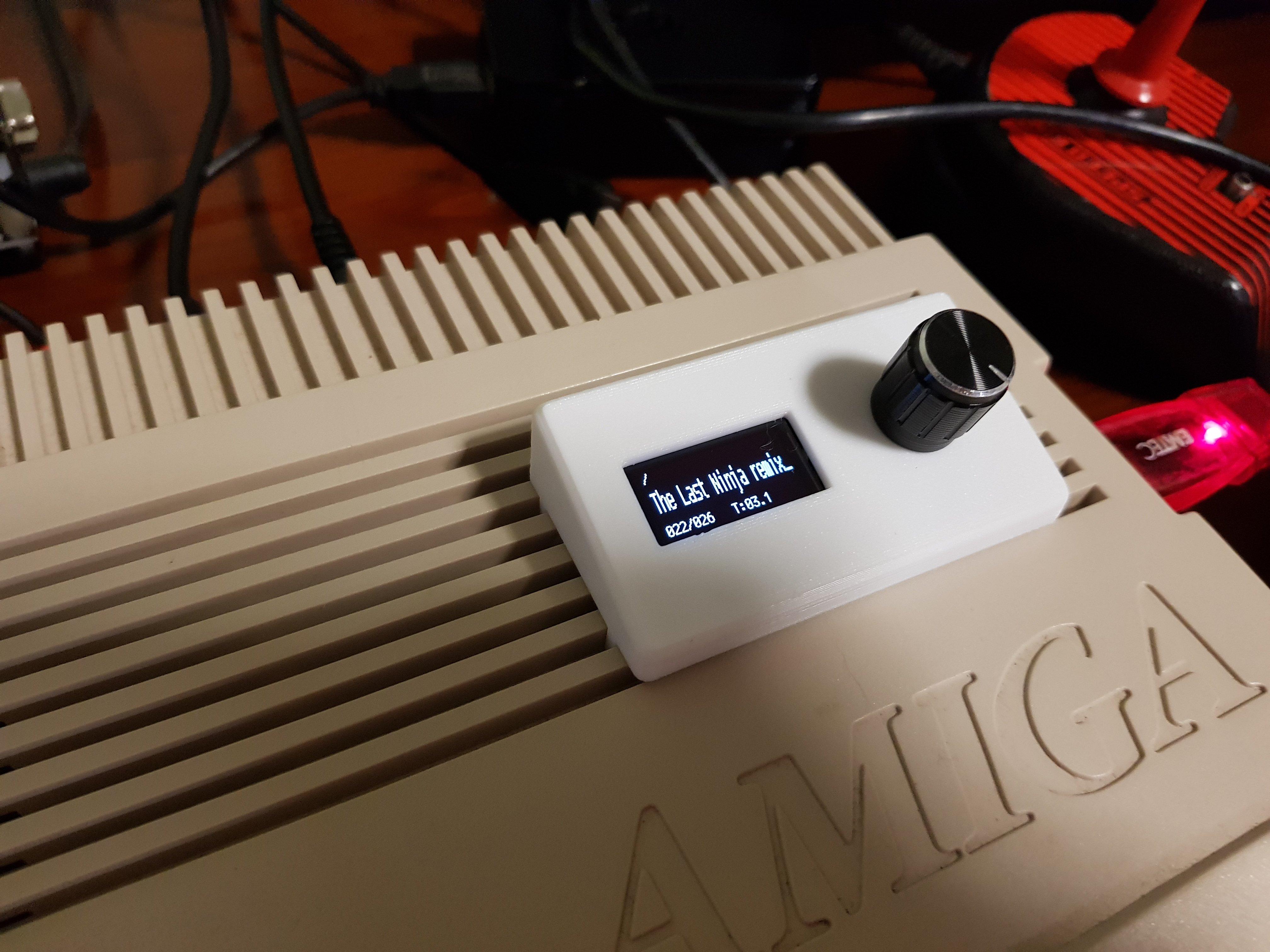 "Amiga Gotek OLED 128x64 0.96"" display with rotary encoder"