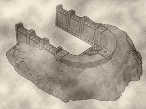 Units Trench Bunker, Part of The Modular Barricade and Wall System For Tabletop Games like Warhammer 40k