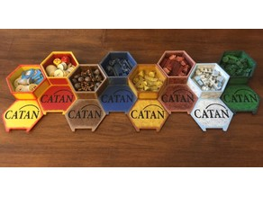 BradLeBard's 3D Catan Board and Storage Box