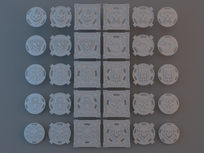 Necro Battle Area - Center pieces