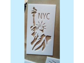 NYC Statue of Liberty - Stencil