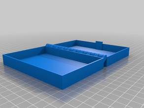 My Customized Hinged Box With Latch, Somewhat Parametric and Printable In One Piece