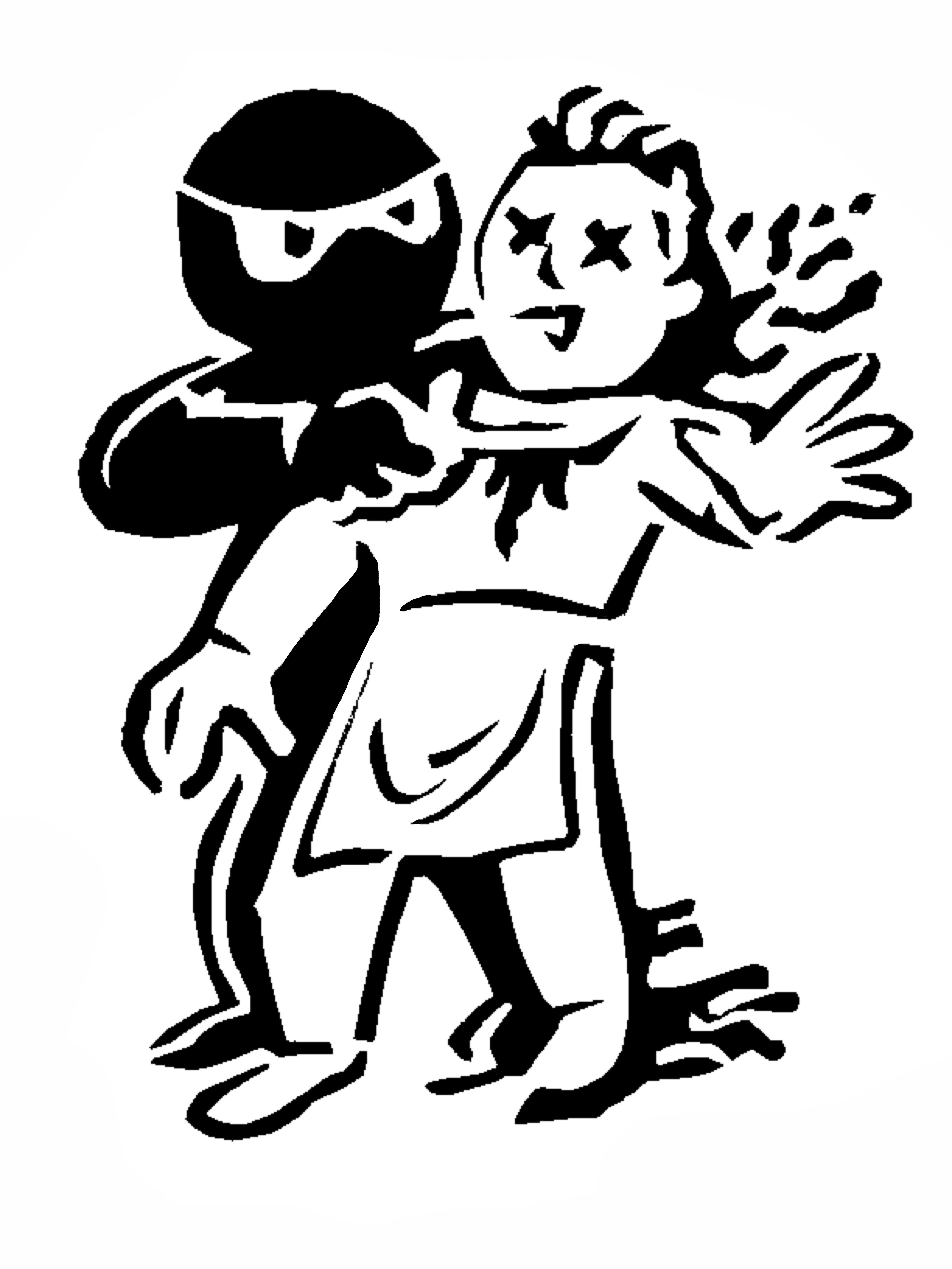 Ninja slitting throat