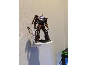 Gundam Wall Mount with Platform