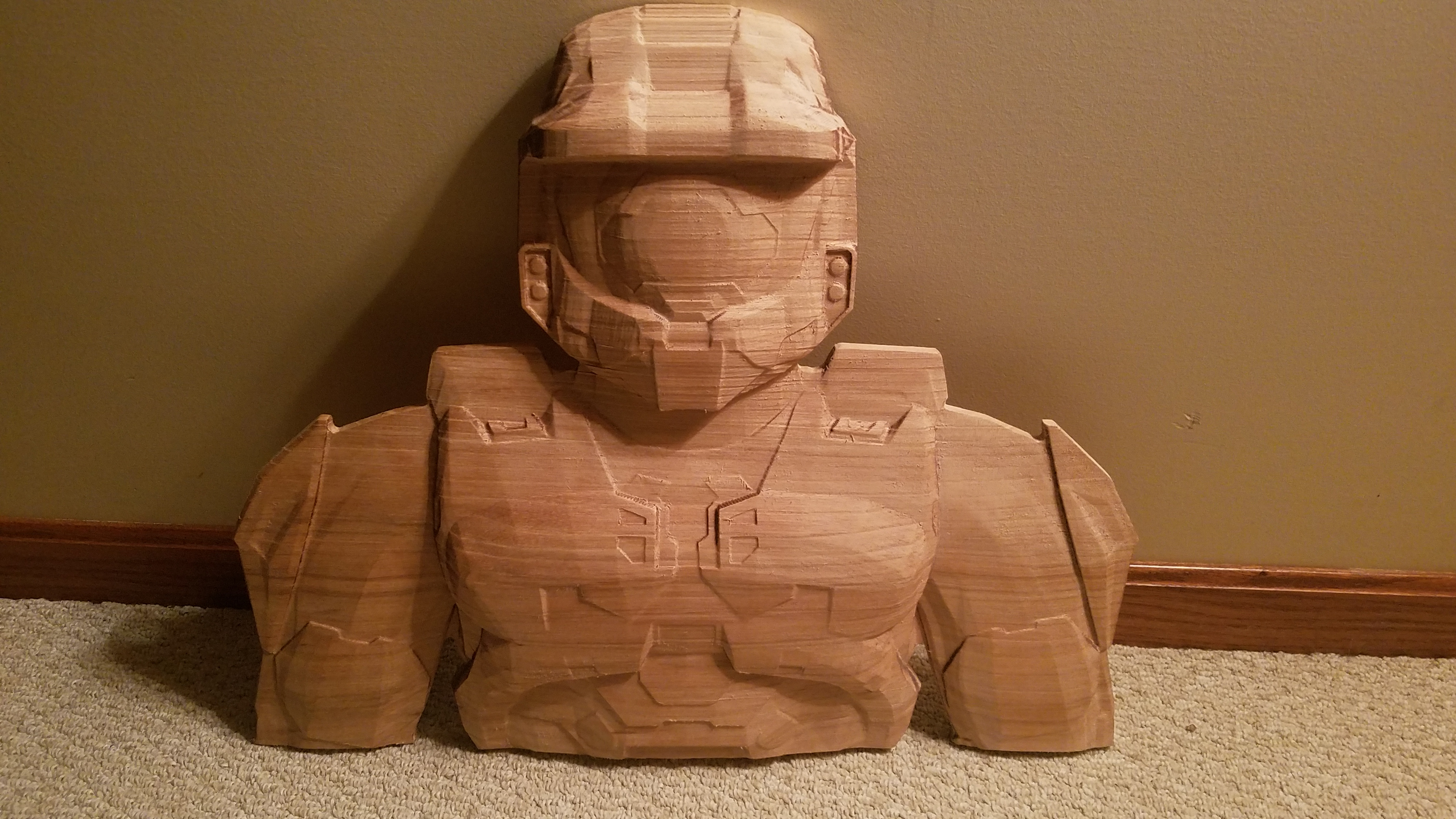 Halo Master Chief remixed for CNC