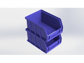 Stackable Akro Storage Bin with Tag Holder