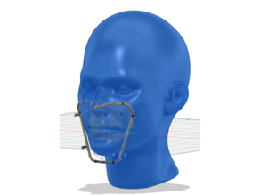 Paper mask frame (protect the gap in the nose)