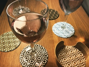 Art deco coaster set