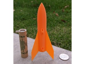Sky Bullet tiny rocket for C motors