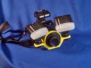 Sony 90 mm macro lens and Meike TTL Macro Flash kit