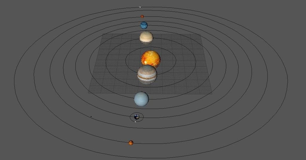 Solar System Video,3d model color