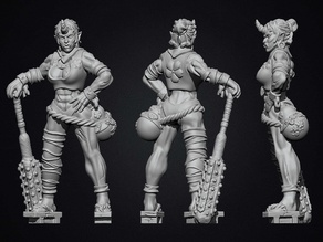 Ogre Troll or oni girl woman. Ogress Remake