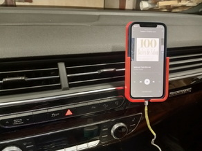 Iphone 12 Pro with silicone case magnet car mount