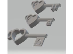 FHW: Square heart key set
