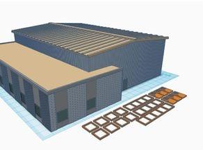 N Scale Trucking Company / Shop / Warehouse (1:160)