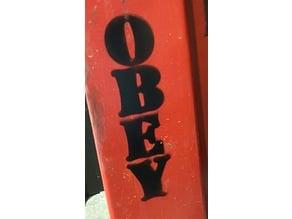 OBEY spray paint stencil Shepard Fairey street art