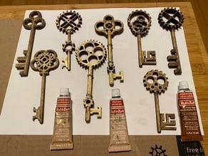 Steampunk Gear Keys