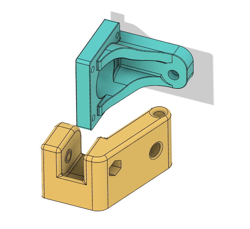 Wanhao i3 Plus Y Axis Stiffening Brackets -  Pulley and Stepper Motor Mounts
