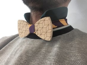 Wooden bow tie (CNC & Laser & Sewing)