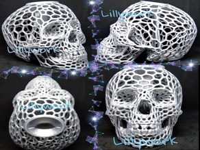 Voronoi Skull bank with lid
