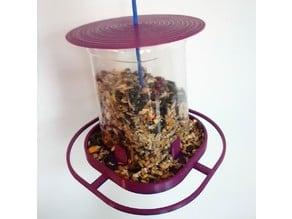 Juice Bottle bird feeder