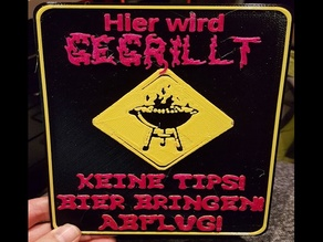 Grill Sign - German