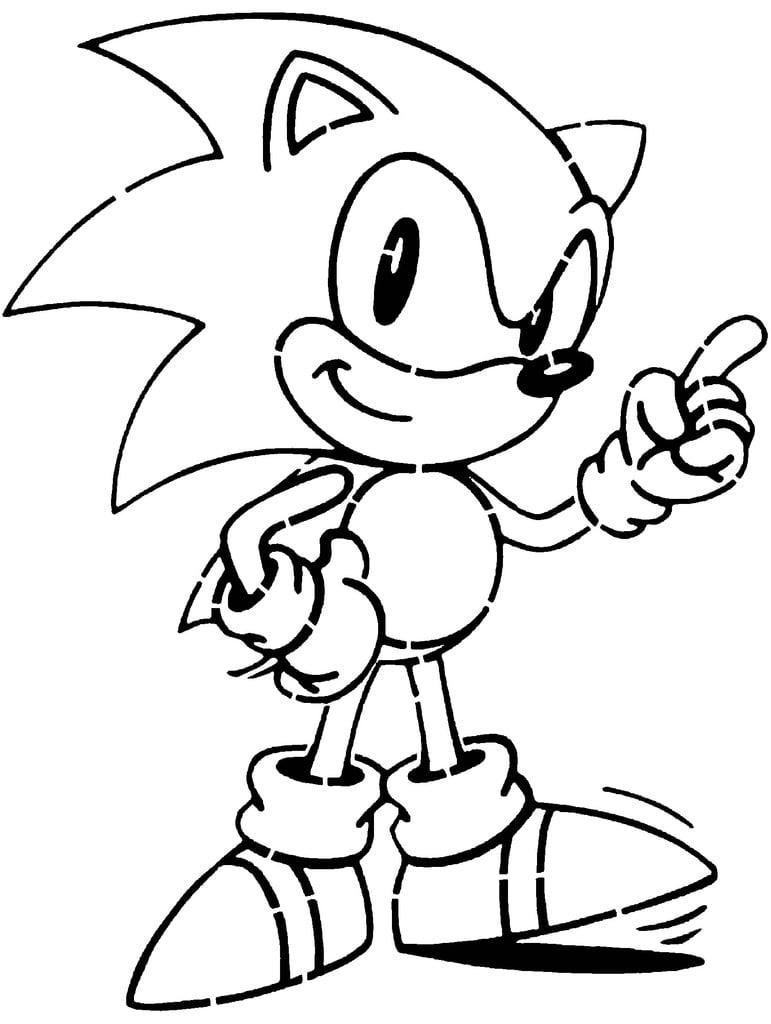 Sonic the Hedgehog stencil 3