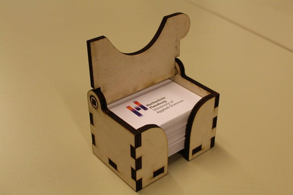 lasercut  business card box